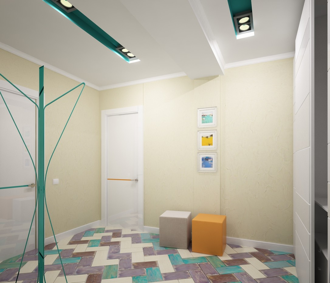 Apartment for a young family in 3d max vray image