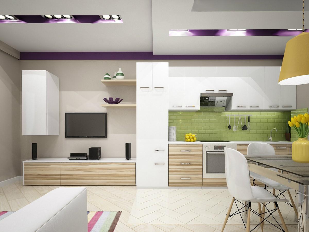 Квартира для молодой семьи в 3d max vray изображение