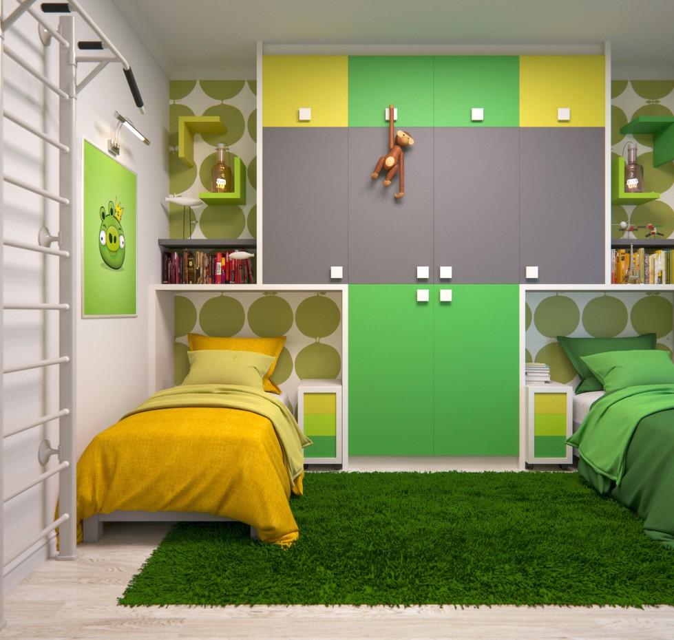 imagen de Los niños verdes en 3d max corona render
