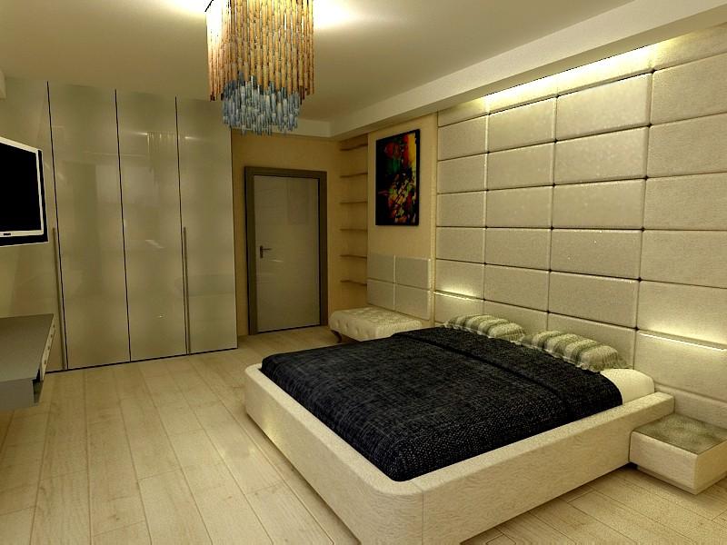 Bedroom-minimalism in 3d max vray image