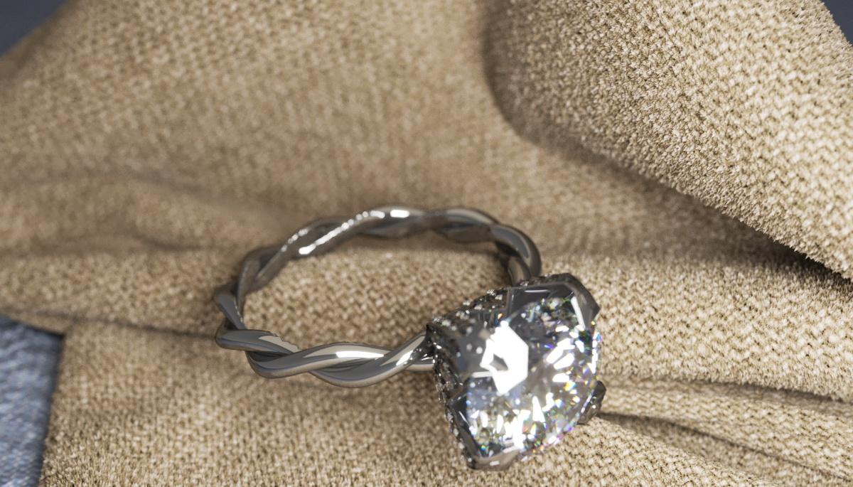 Render jewelry ring. CoronaRender in 3d max corona render image