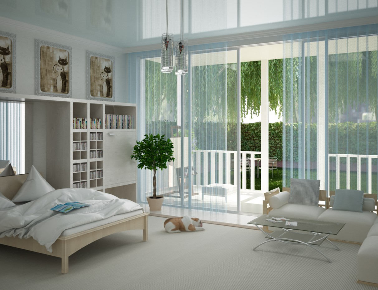 3d visualization of the project in the Bedroom 3d max, render vray 2.0 of Doroteya