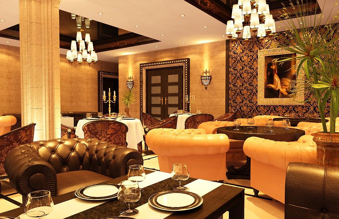 Ресторан в 3d max vray зображення