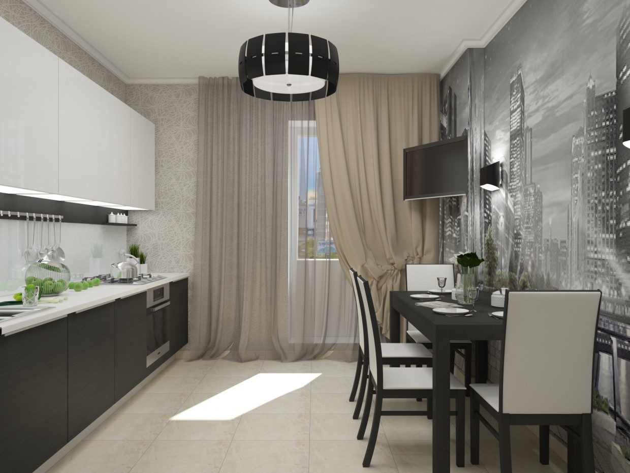 Kitchen modern design! in 3d max vray image