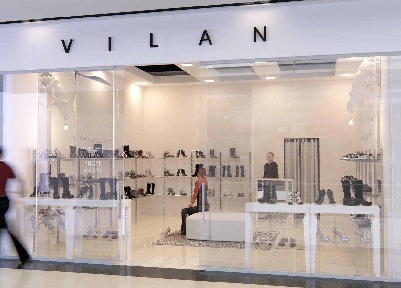 "Shoe store ""VILAN"" in 3d max corona render image"