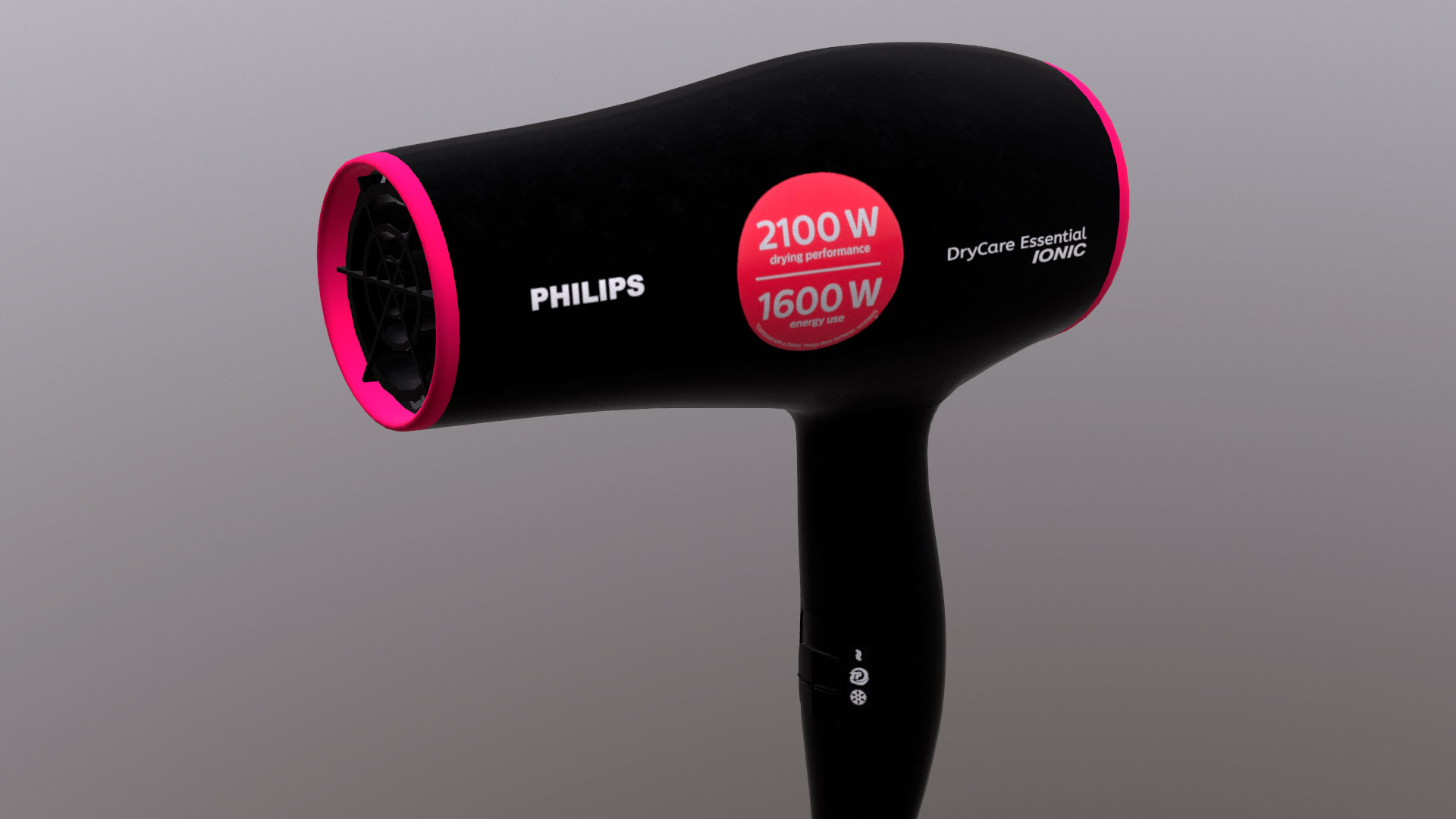Dry care. Hair dryer model in 3d max Other image
