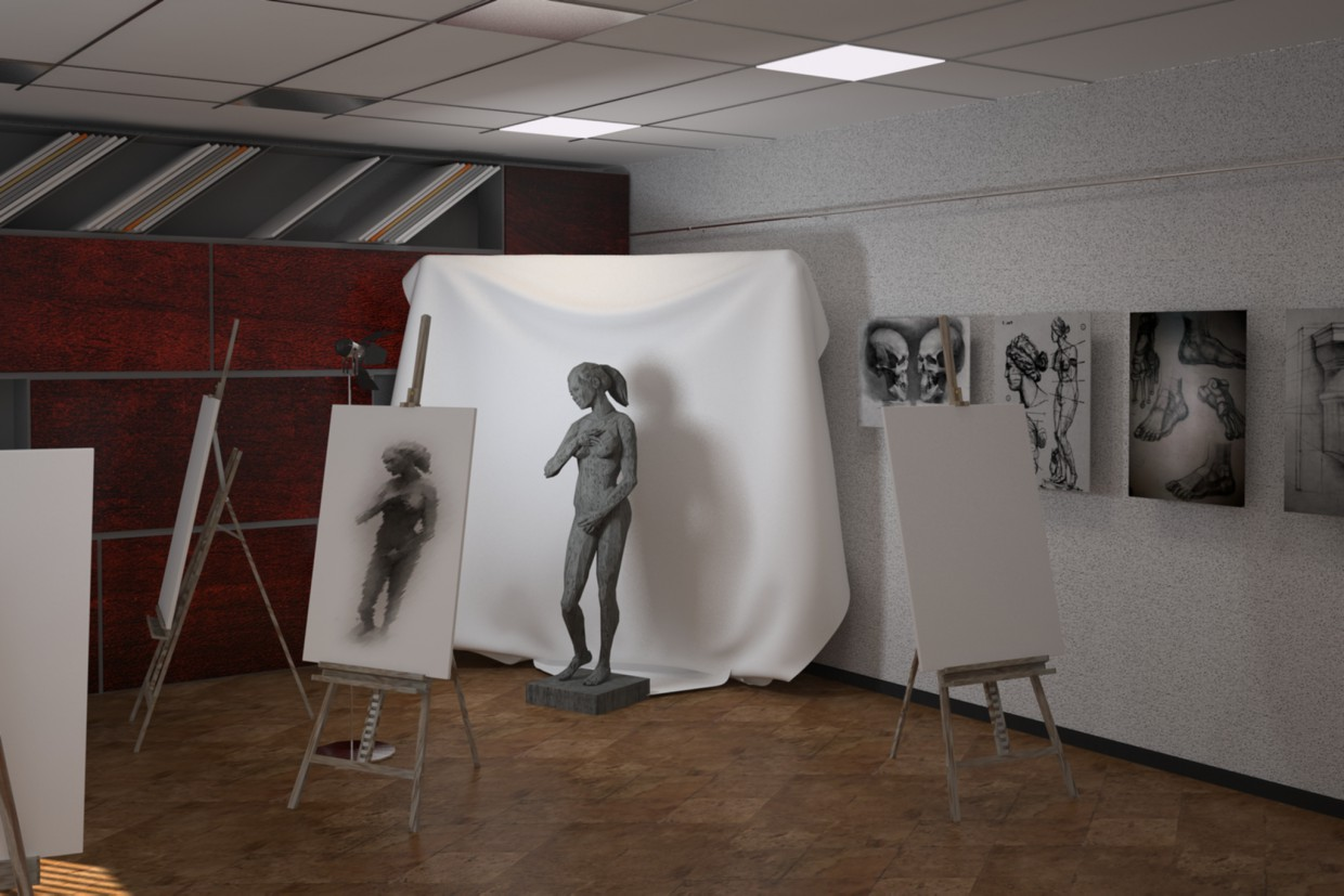 art workshop in 3d max vray image