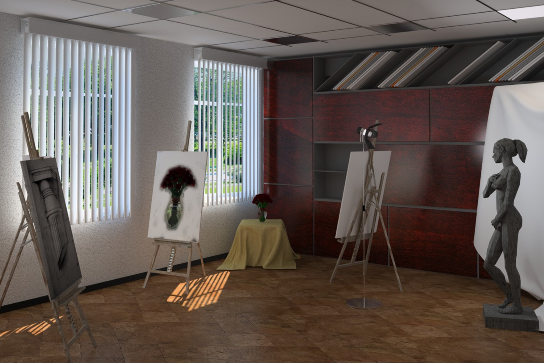 art workshop в 3d max vray зображення