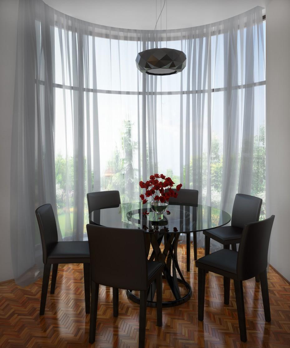Visualisation 3d salle manger avec baie vitr e for Salle a manger 3d