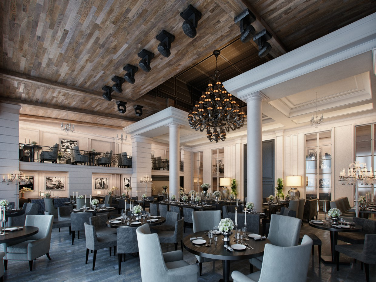 Restaurant in 3d max vray 3.0 image