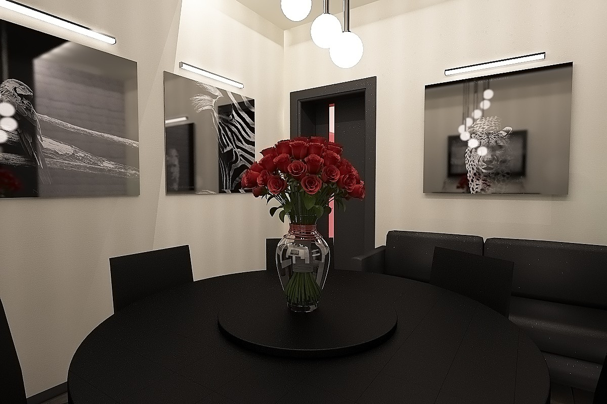 Кафе в 3d max vray изображение