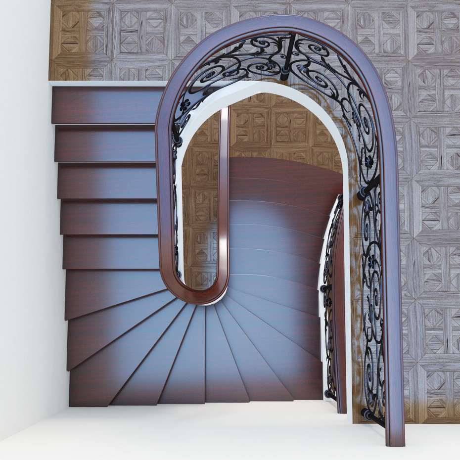stairs in 3d max vray image