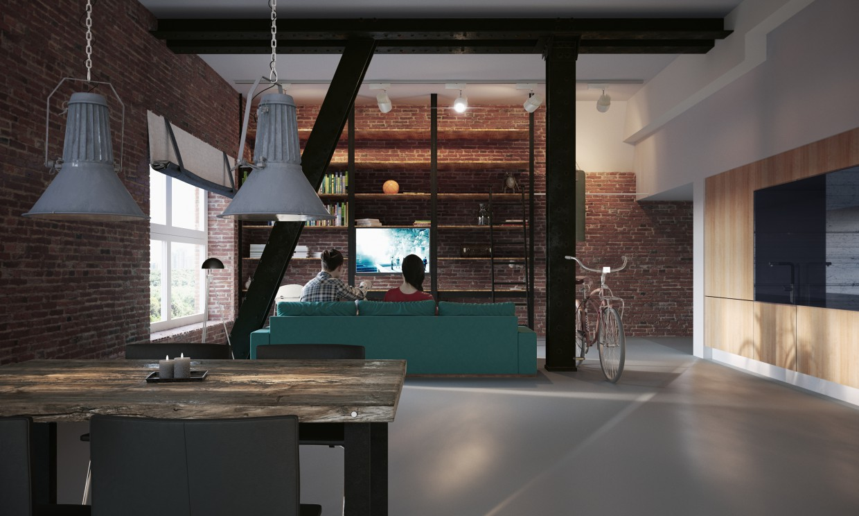 Loft in Amsterdam в 3d max corona render изображение