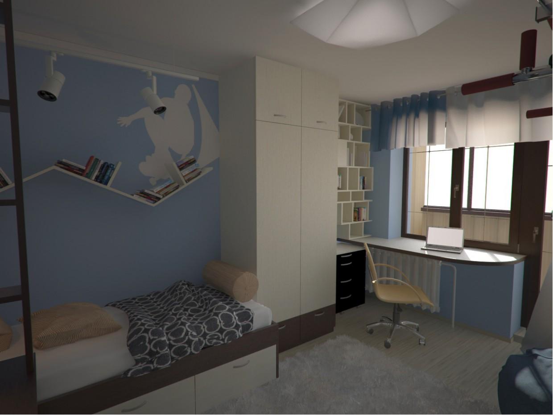 imagen de chico de la habitación en 3d max vray