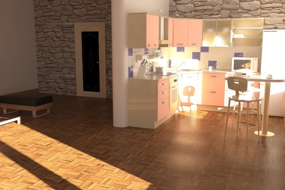 visualización 3D del proyecto en el Estudio 3d max render vray 3.0 Cu6up9k