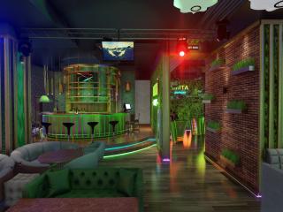 3D Video presentation Lounge Hookah bar. (Video attached)