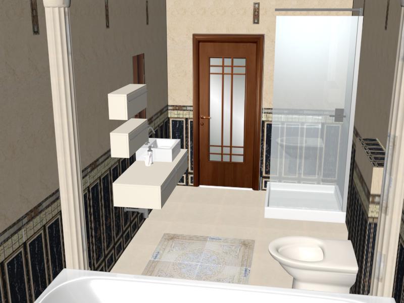 3d визуализация проекта ванная в 3d max, рендер mental ray от Татьяна987