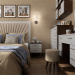 Interior design project for a bedroom in an apartment in Chernigov