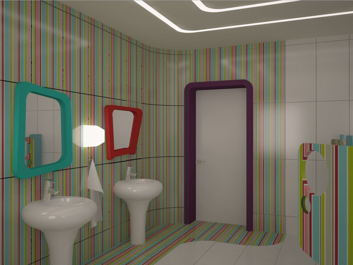 Children's home in 3d max vray image