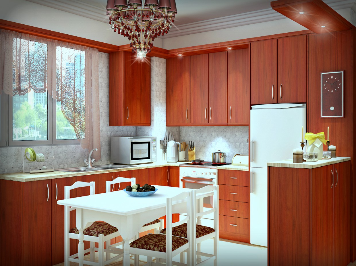my kitchen:) in 3d max vray image