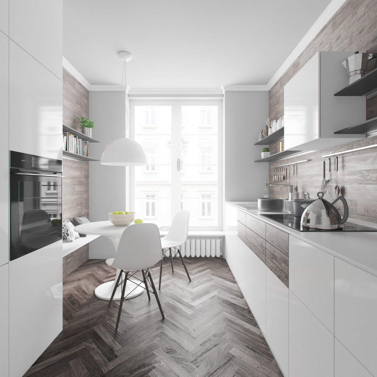 Kitchen in 3d max vray 2.5 image