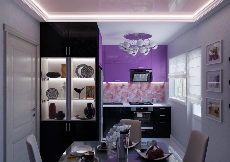 Кухня в современном стиле в 3d max vray изображение