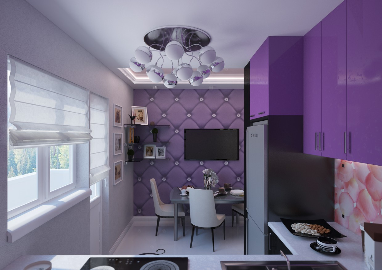 Kitchen modern design in 3d max vray image