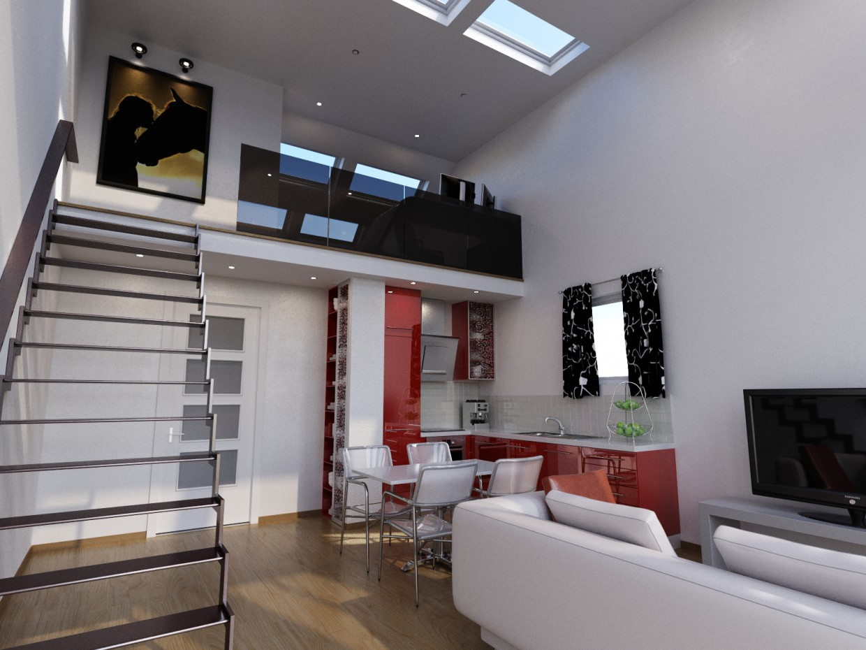 Квартира в Чехии г.Прага в 3d max corona render изображение