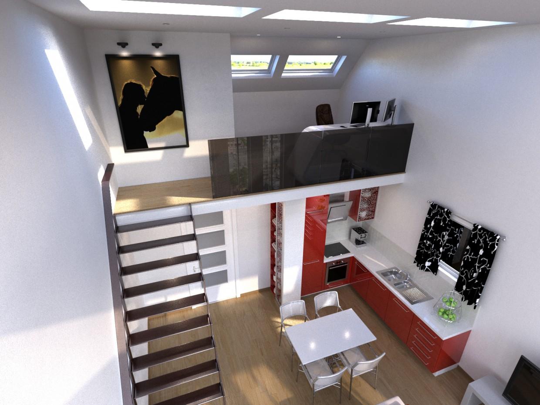 imagen de Apartamento en Praga República Checa en 3d max corona render