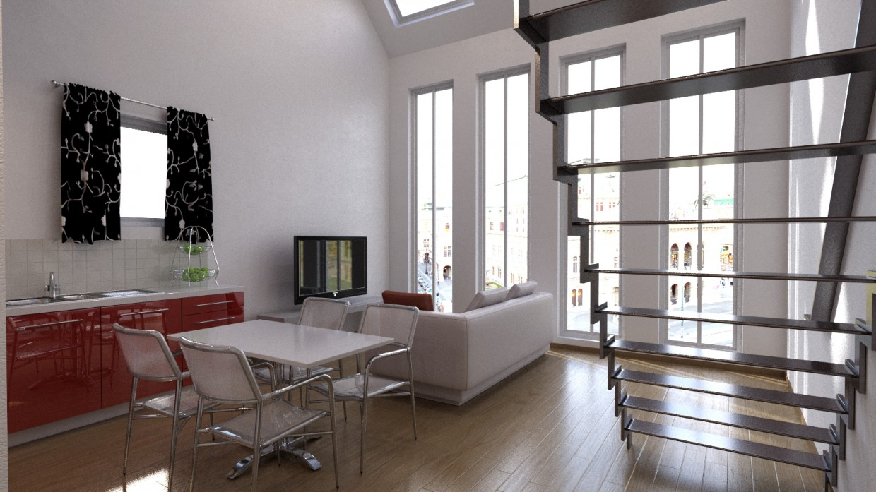 Apartment in Prague Czech Republic in 3d max corona render image