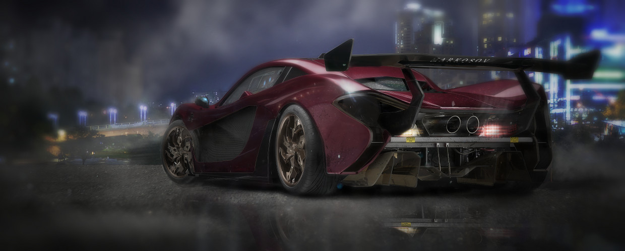 3d visualization of the project in the Mclaren p1 3d max, render Other of marko0306