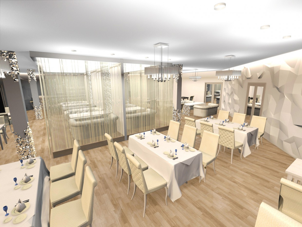 3d visualization of the project in the a cafe 3d max, render vray of Лея