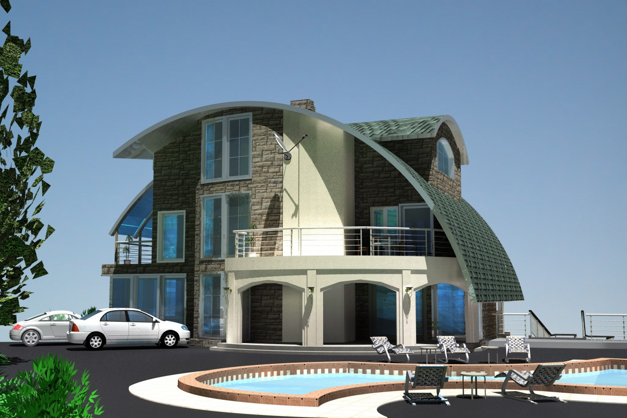 House by the Caribbean Sea in ArchiCAD Other image