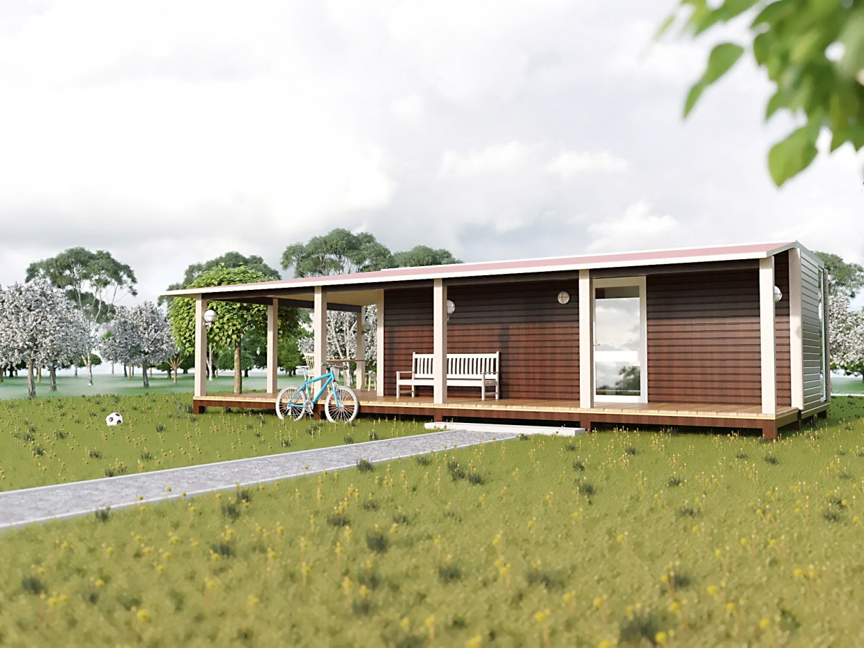 Container house. in ArchiCAD corona render image
