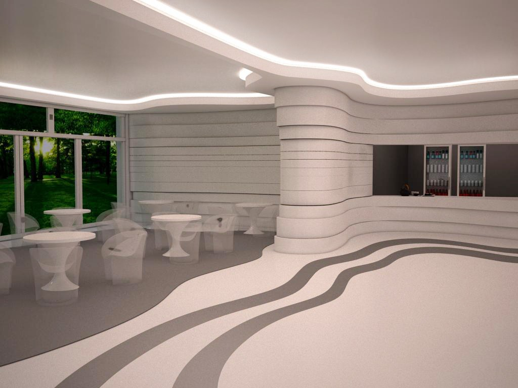 School canteen in 3d max vray image
