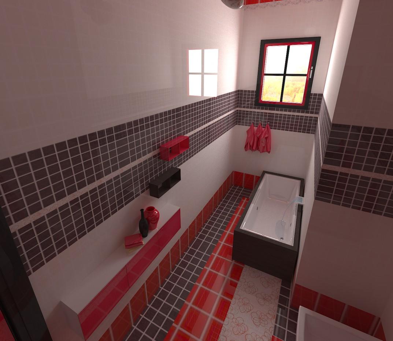 imagen de WC en una habitación de hotel en 3d max vray