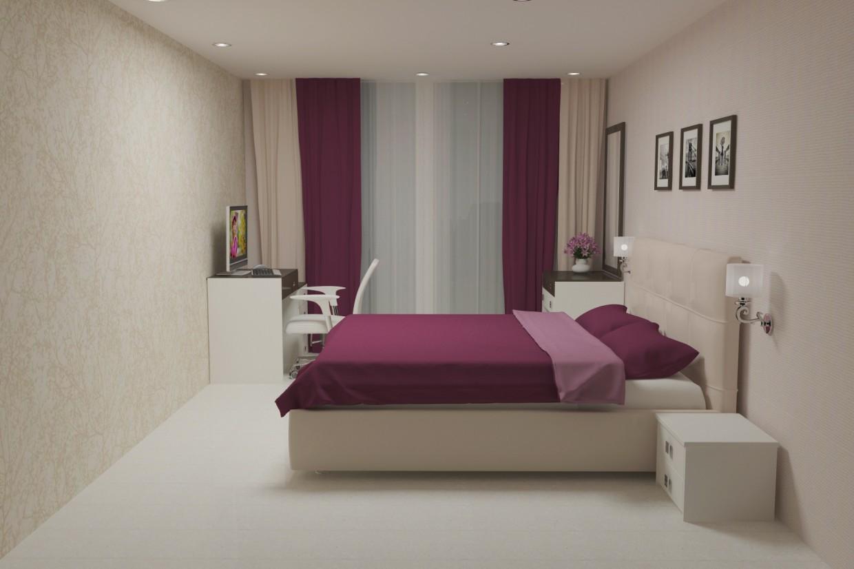 Cпальня в 3d max vray 3.0 зображення