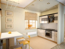 Kitchen-dining room. Design, visualization