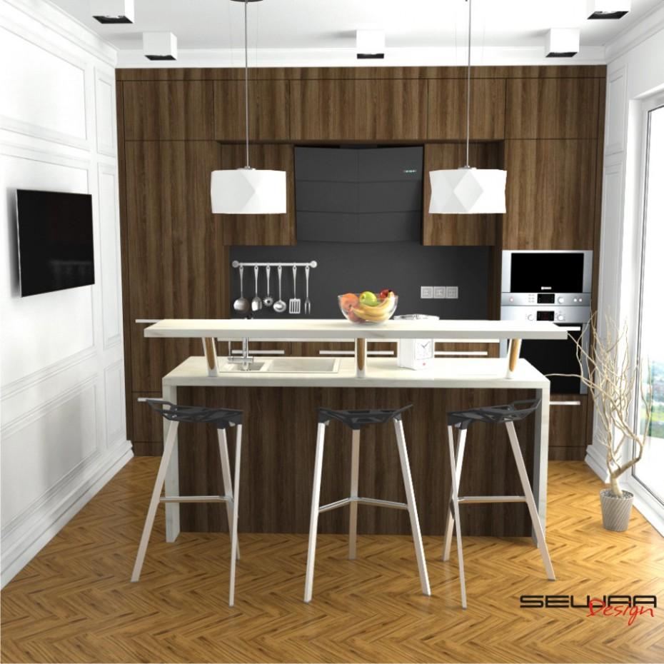 3d визуализация проекта Кухня в 3d max, рендер vray от SeWAA
