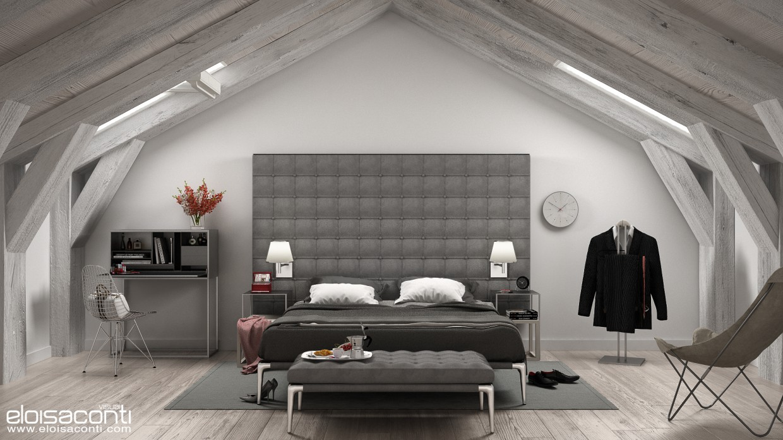 imagen de Diseño de interior de Loft de techo alto en Cinema 4d vray 2.0