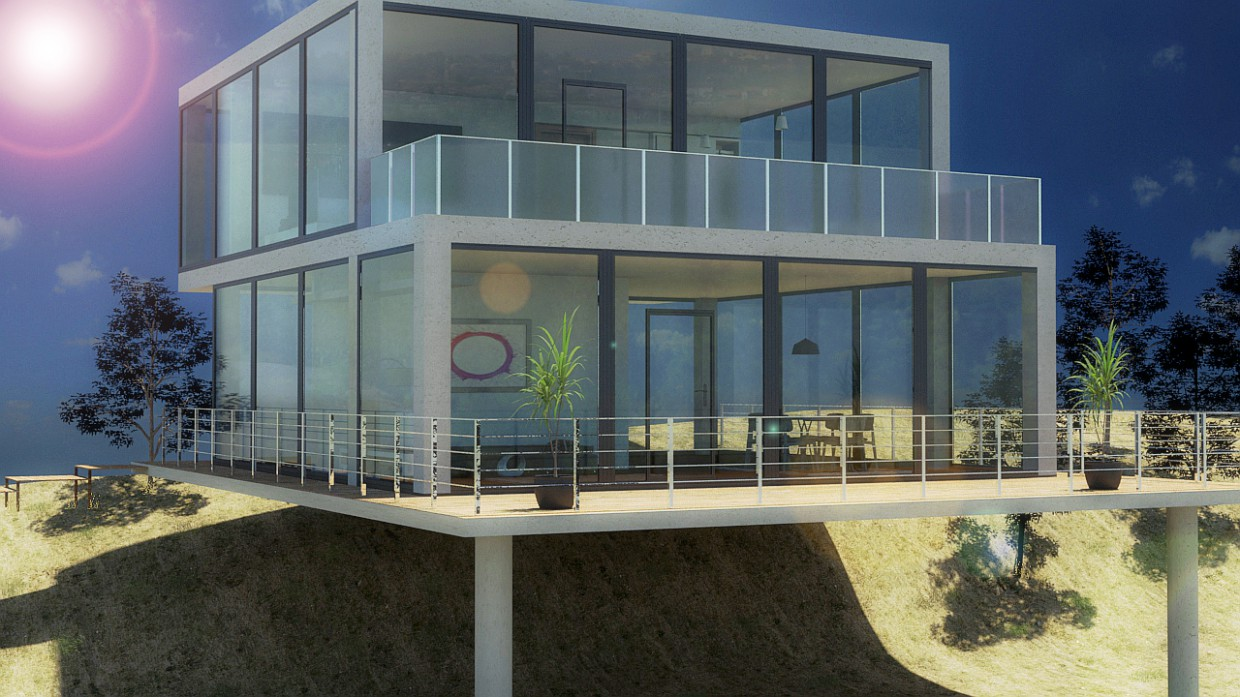 Vitreous house in 3d max mental ray image