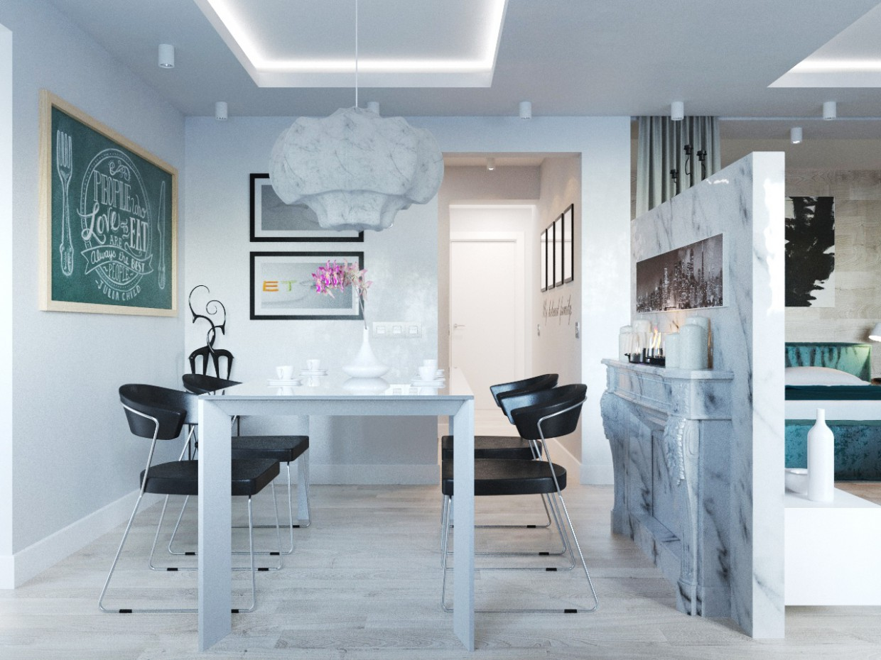 Apartment Studio in 3d max corona render image