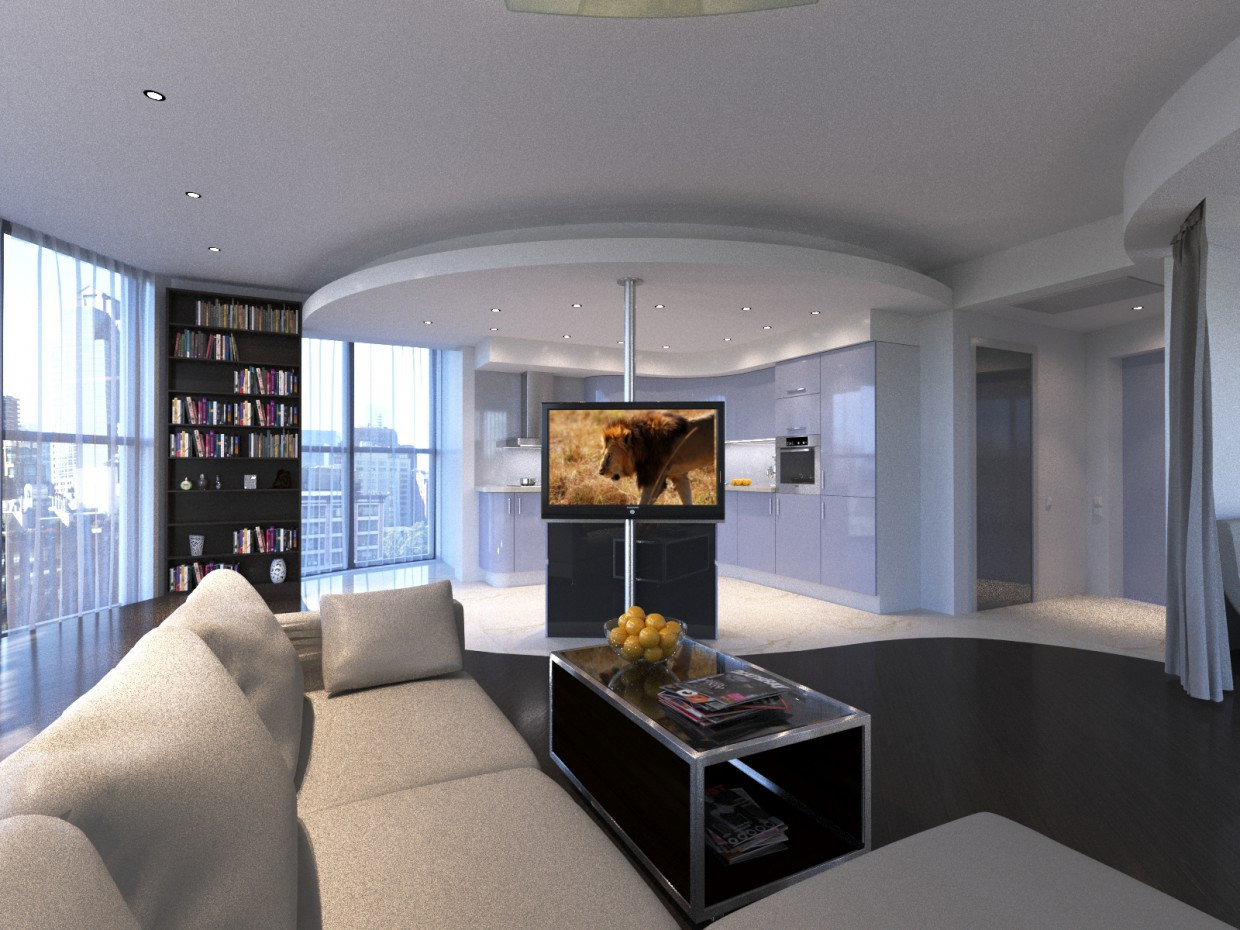 Round apartment in St. Petersburg  in  3d max   corona render  image