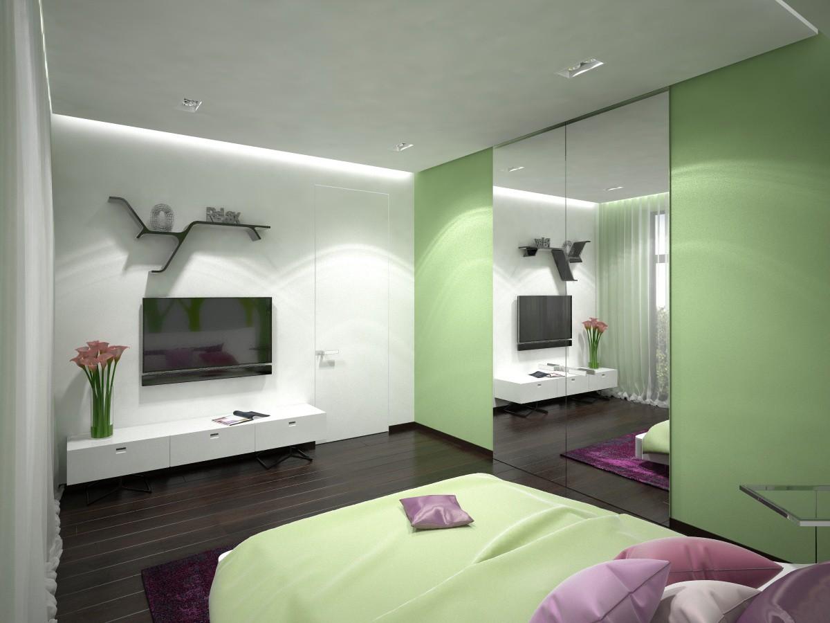 visualización 3D del proyecto en el Dormitorio 3d max render vray Katushechka