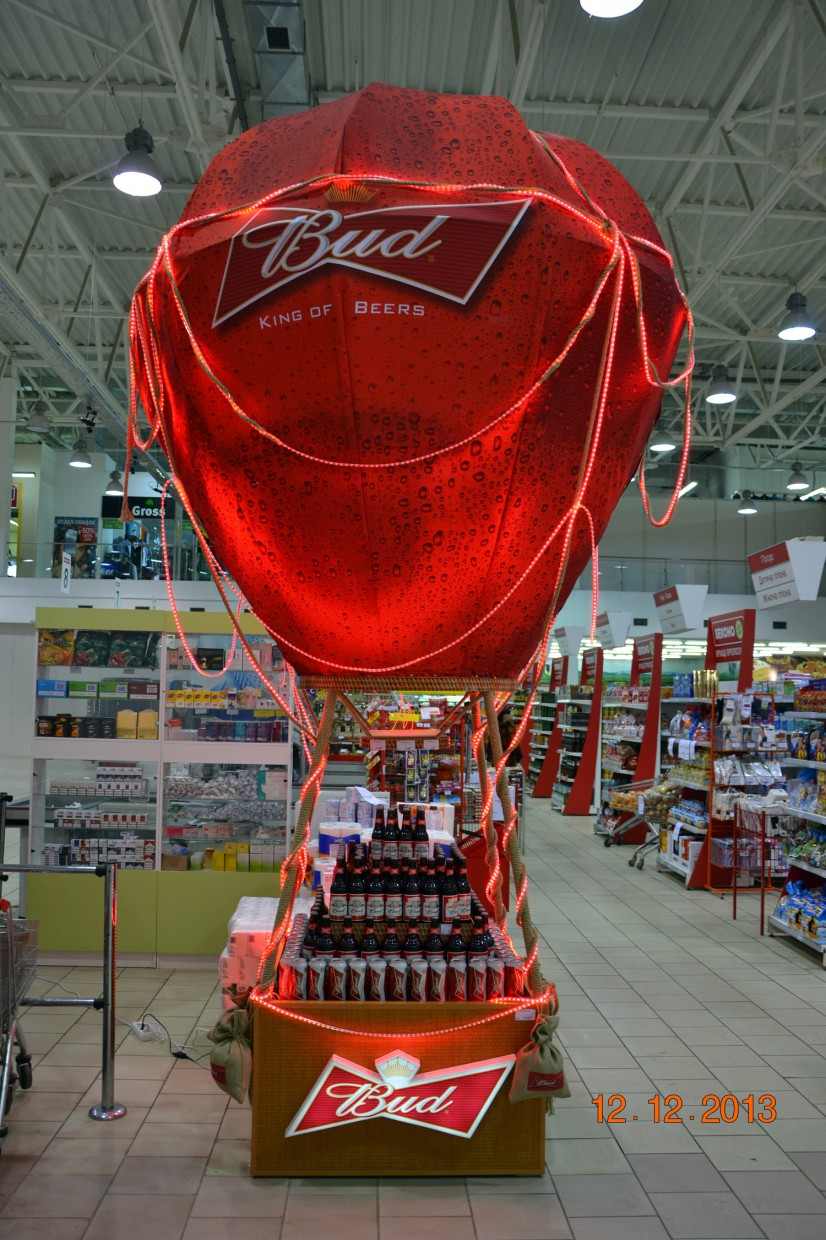 Billboard-showcase for BUD in 3d max vray image