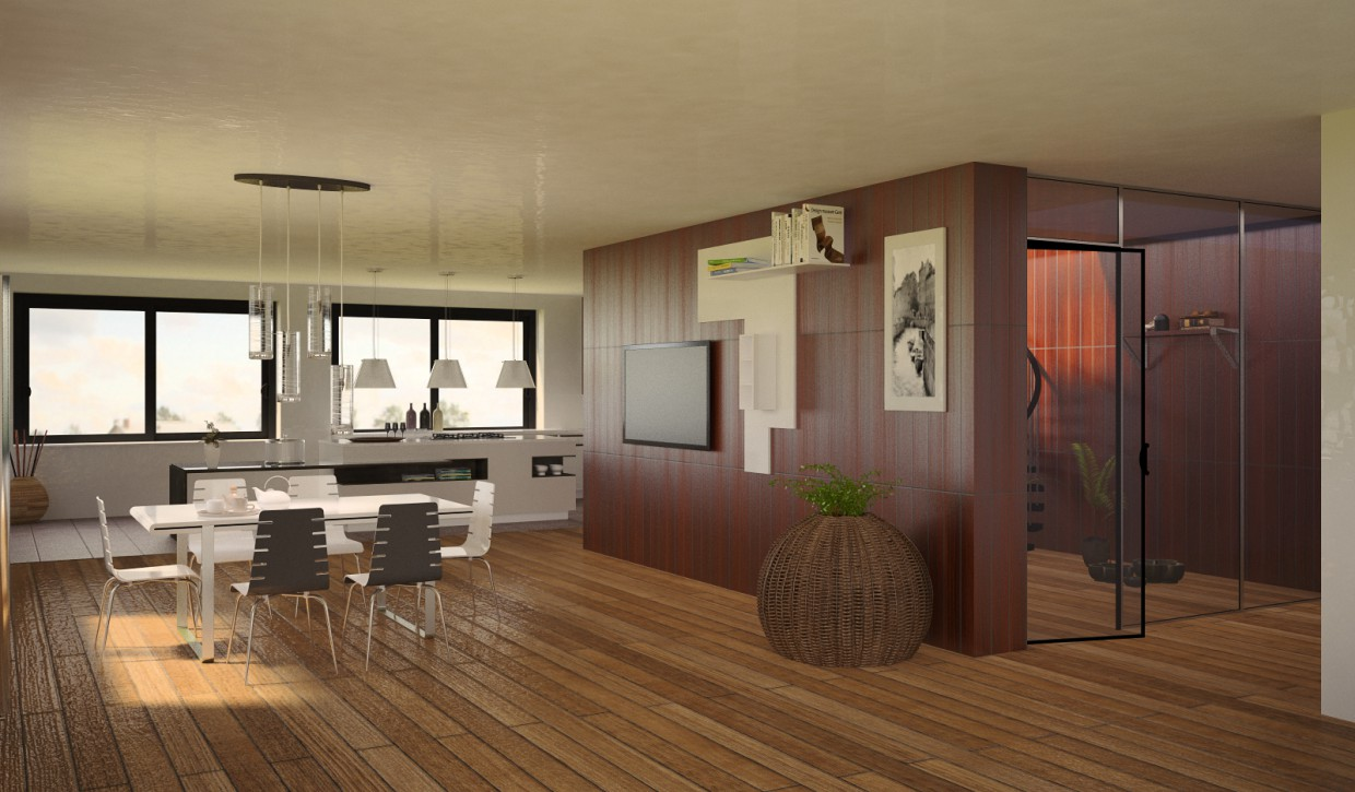 Vacation home in 3d max vray 2.0 image