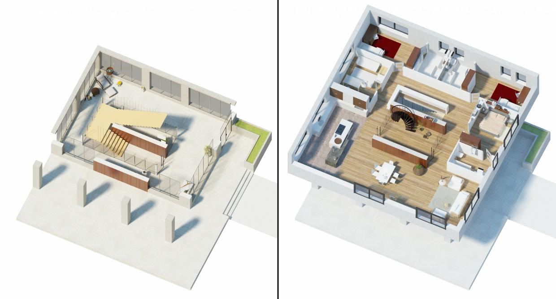 Заміський будинок в 3d max vray 2.0 зображення