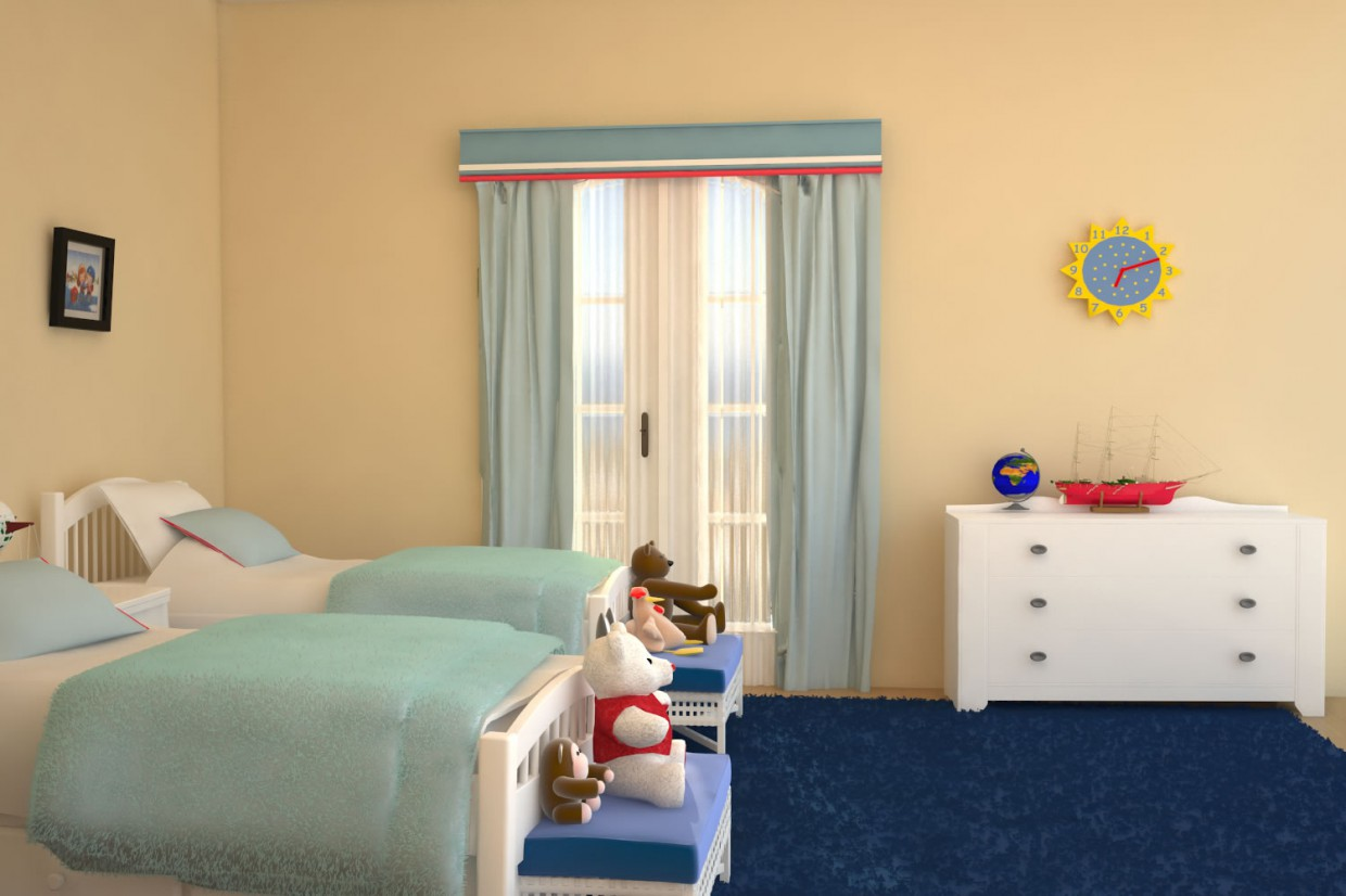 Nursery3  in  3d max   vray  image