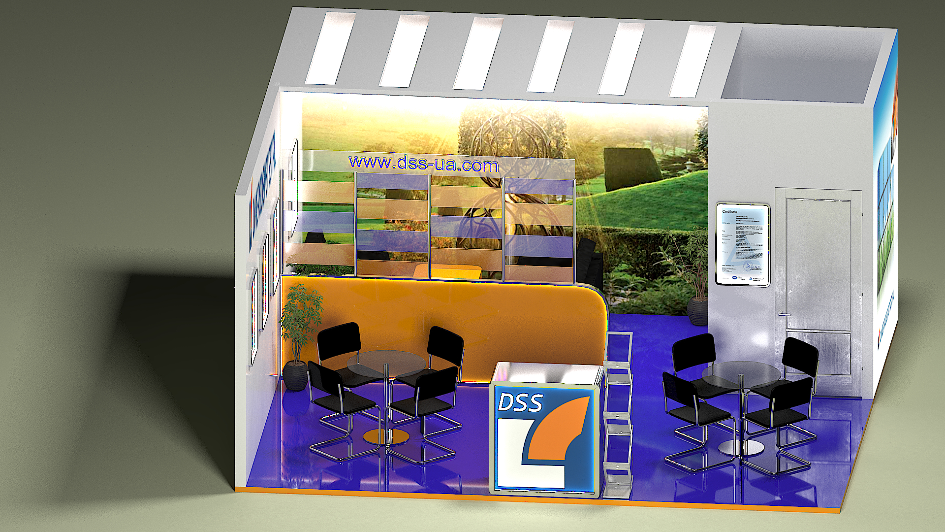 Exhibition Stand Design 3d Max : Exhibition stand dniprospetsstal d visualization and design work