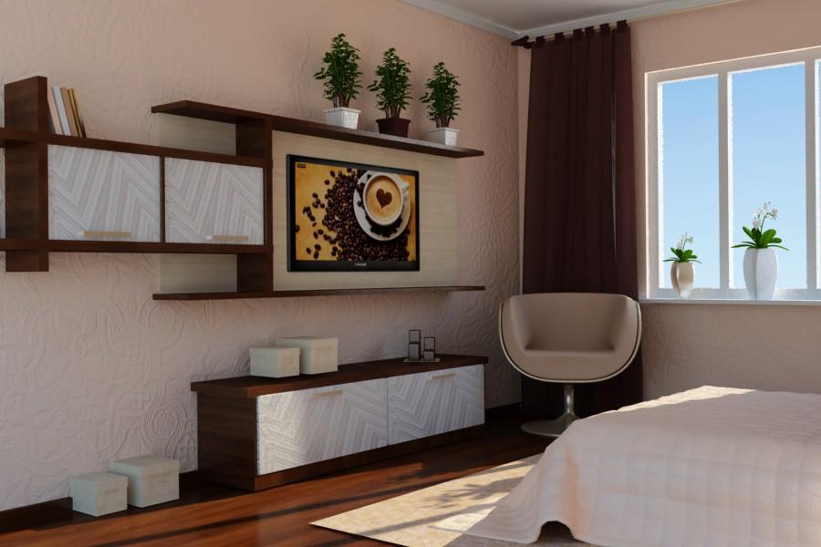 3d визуализация проекта Спальня в 3d max, рендер vray от Alia
